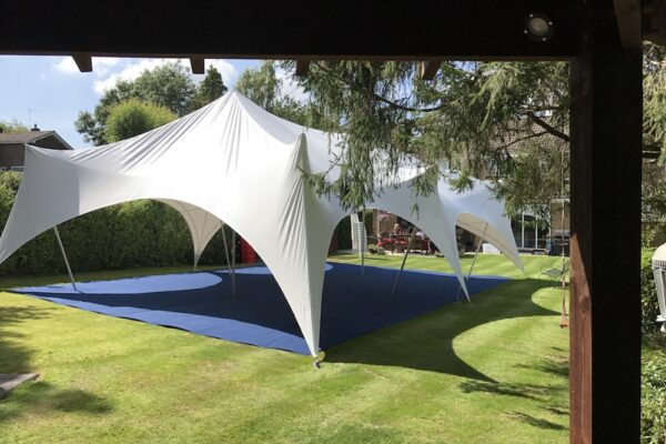 28ft x 38ft Capri with Blue Contract Carpet