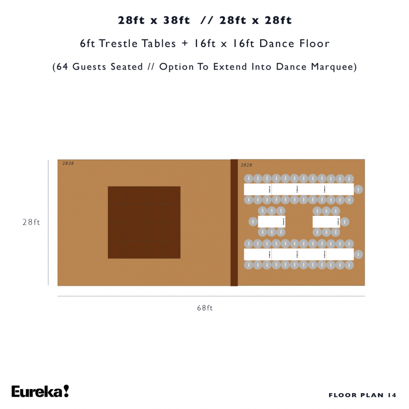 Capri Marquee Hire Floor Plan 14