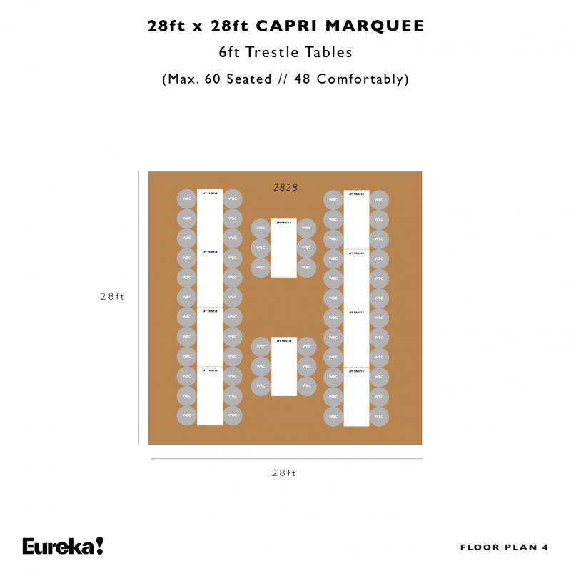 Capri Marquee Hire Floor Plan 4