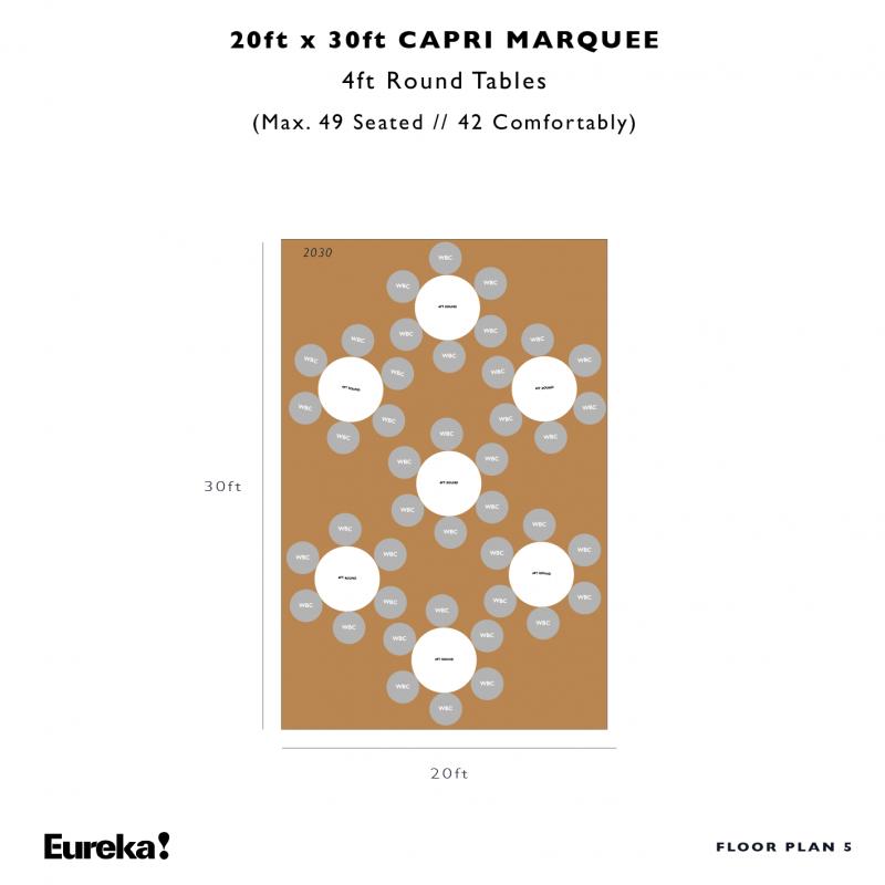 Capri Marquee Hire Floor Plan 5