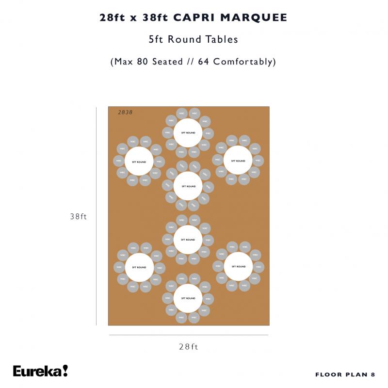 Capri Marquee Hire Floor Plan 8