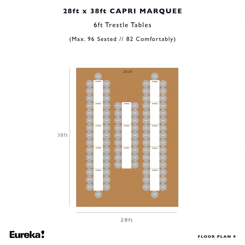 Capri Marquee Hire Floor Plan 9